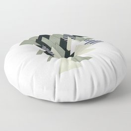 French Alps at Dusk Floor Pillow