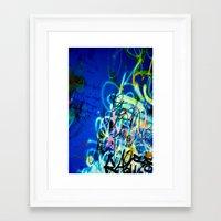 poem Framed Art Prints featuring POEM by soem2014