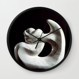 Navel string by Shimon Drory Wall Clock