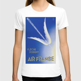 Flèche D'Orient - Vintage Air France Travel Poster T-shirt