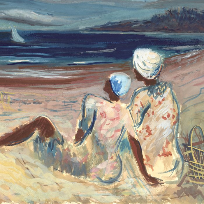 On the Beach by Victor Laredo Comforters