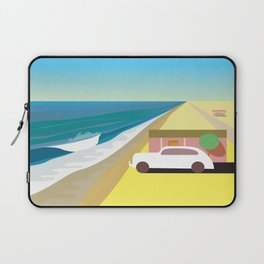 Alone at Bungalow Beach Laptop Sleeve
