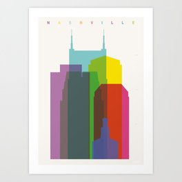 Shapes of Nashville Art Print