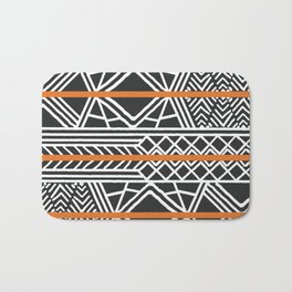 Tribal ethnic geometric pattern 022 Bath Mat