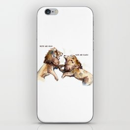 Dress fight - Blue or white? iPhone Skin