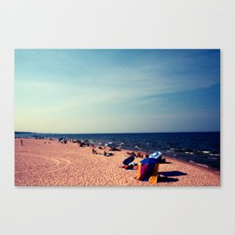 Lake Michigan Beach Scene Canvas Print