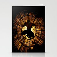 nightcrawler Stationery Cards featuring Night Stained Glass by Daniac Design