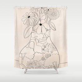 Flower Vase Shower Curtain