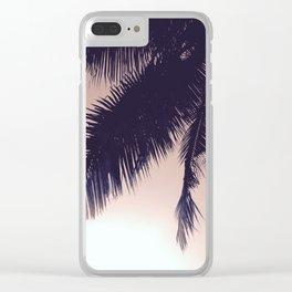 Palm Sunrise Clear iPhone Case