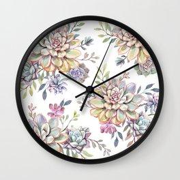 succulent watercolor 10 Wall Clock