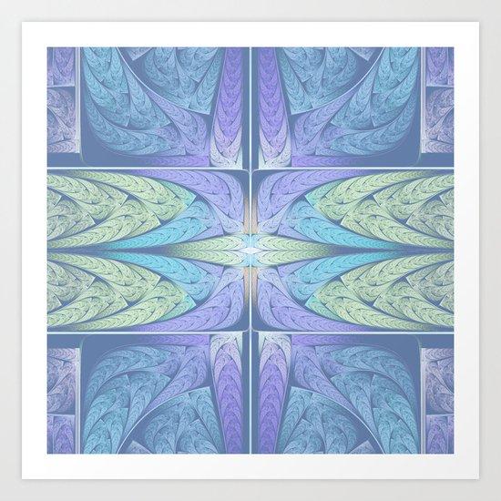 Faded Fractal Art Print