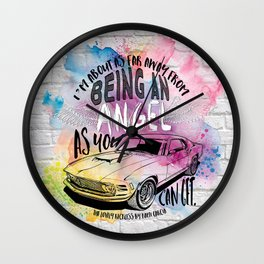 The Lovely Reckless - Angel Wall Clock