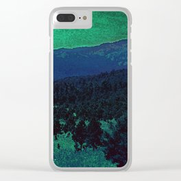 The Sleeping Mountains Clear iPhone Case