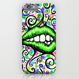 Sexy Lips Green iPhone Case