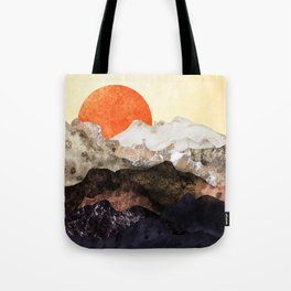 Marbled mountains by sunset Tote Bag