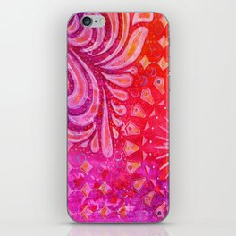 Joy in Orange and Purple iPhone Skin