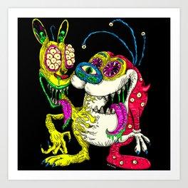 Monster Friends Art Print