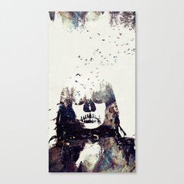 Tousled bird mad girl Canvas Print