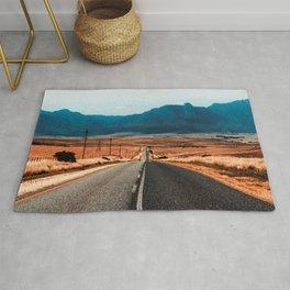 Teal Mountains Highway Rug