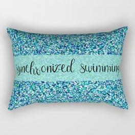 Glitter Synchronized Swimming Rectangular Pillow