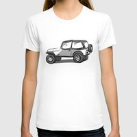 jeep T-shirts featuring Jeep by CurvedandTwisted