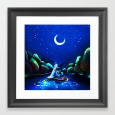 Starry Night Aladdin Framed Art Print