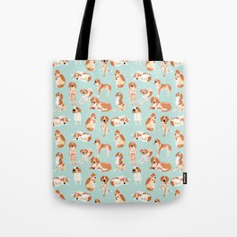 Redtick Coonhound on Light Blue Tote Bag