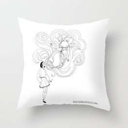 Cigarette Genie Throw Pillow