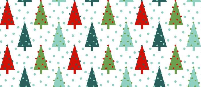 Christmas Tree Holiday Dots Snow Polka Dot Minimal Modern