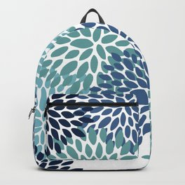 Floral Blooms, Navy, Blue and Teal Backpack