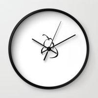 pear Wall Clocks featuring pear by Amy Dalton