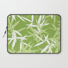Green Bamboo Leaves Unique Pattern Laptop Sleeve