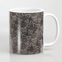 evil dead Mugs featuring Evil skull by AldanNi