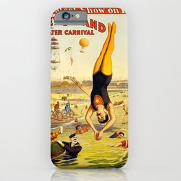 The Great Coney Island Water Carnival – Barnum & Bailey Circus Poster iPhone Case