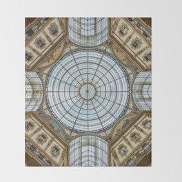 Ceiling of the Galleria Vittorio Emanuele II, Milan Throw Blanket