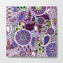 Tribal Patchwork Metal Print