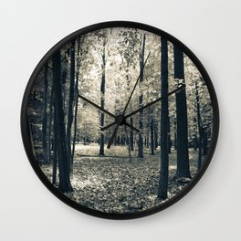 Light in the Forest Wall Clock