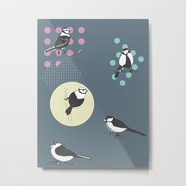 Birds And Dots Metal Print