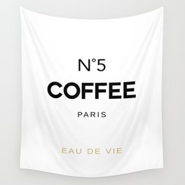 Number 5 Coffee In Paris, Eau De Vie, Water Of Life Quote, Cafe Label Quotes, Large Printable Photo Wall Tapestry