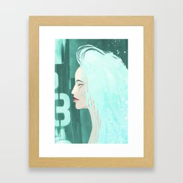Seafoam Girl Framed Art Print