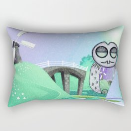 Land Of Owl Rectangular Pillow