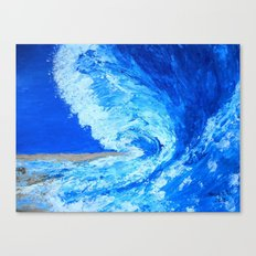 Big Wave  palette knife abstract Canvas Print