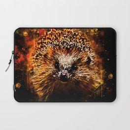 hedgehog watercolor splatters Laptop Sleeve