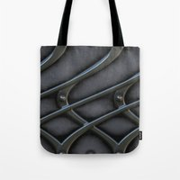 the wire Tote Bags featuring The wire by MehrFarbeimLeben