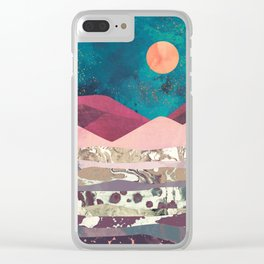 Magenta Mountain Clear iPhone Case
