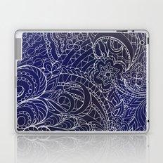 transparent white zen pattern dark blue gradient Laptop & iPad Skin