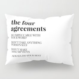 the four agreements Pillow Sham