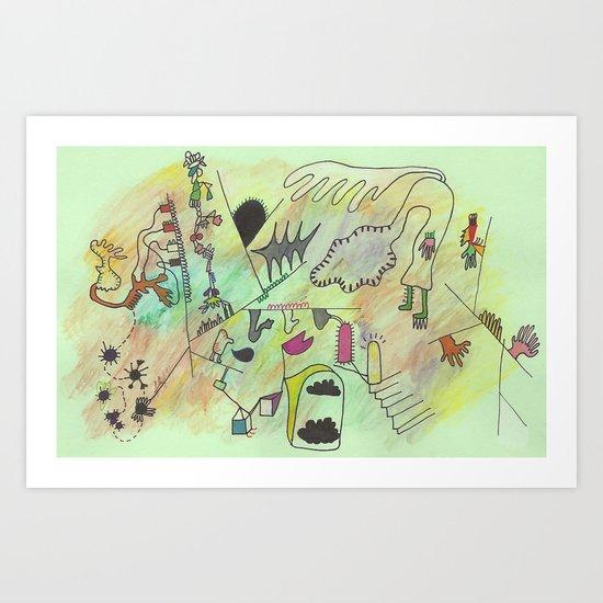 disquiet Art Print