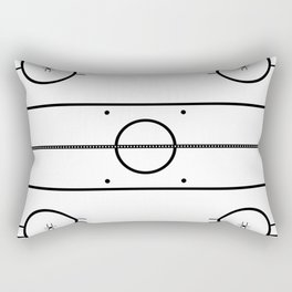 Ice Hockey Rink Rectangular Pillow