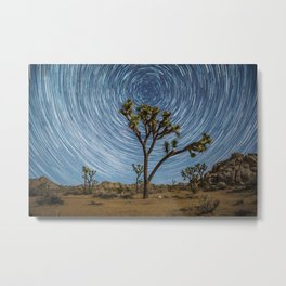 Joshua Tree Star Trail Metal Print